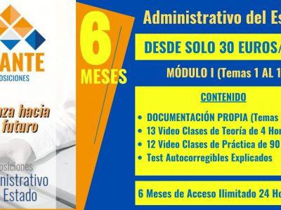 ADMINISTRATIVO DEL ESTADO [Módulo I  – Temas 1 al 10]