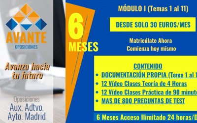 AUX. ADMINISTRATIVO AYTO. MADRID [Módulo I  – Temas 1 al 11]
