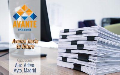 Auxiliar Administrativo del Ayto. de Madrid – Módulo I