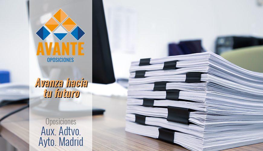 Curso Online – Auxiliar Administrativo del Ayuntamiento de Madrid