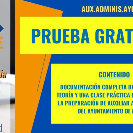 AUX ADMIN AYUNTAMIENTO DE MADRID (Demo Gratuita)