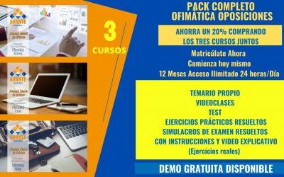 Pack Ofimática Tres Cursos (Word,Excel y Access ESPECIAL OPOSICIONES)